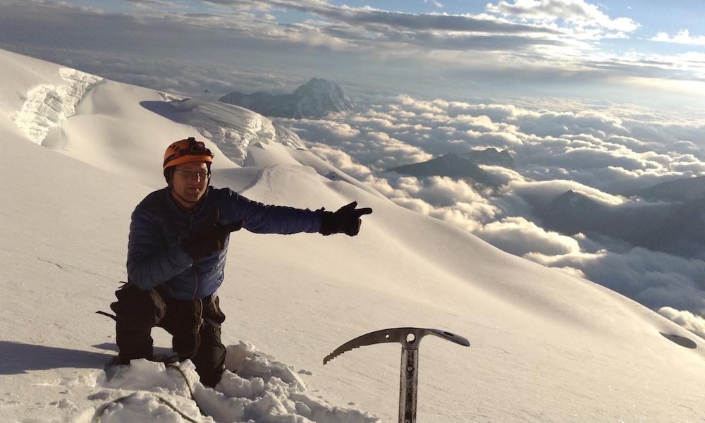 Von oben schaut es noch schöner aus: Gipfeltour mit Eispickel - Huayna Potosi (6088 m), Bolivien