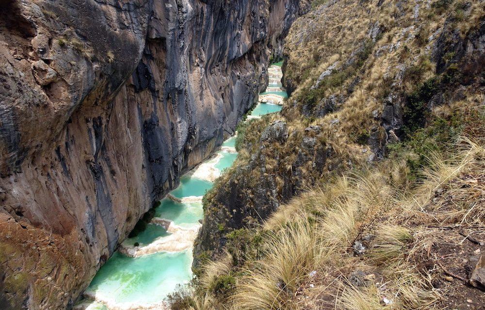 A Millpu-kanyon természetes medencéi