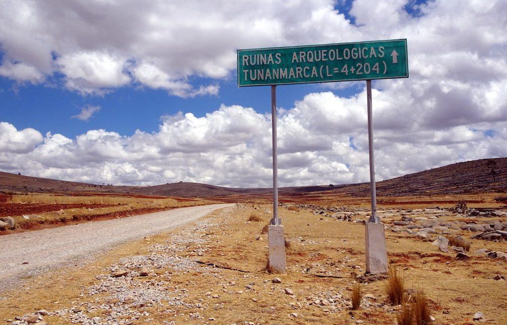 Die Ruinen von Tunanmarca und ihre Umgebung